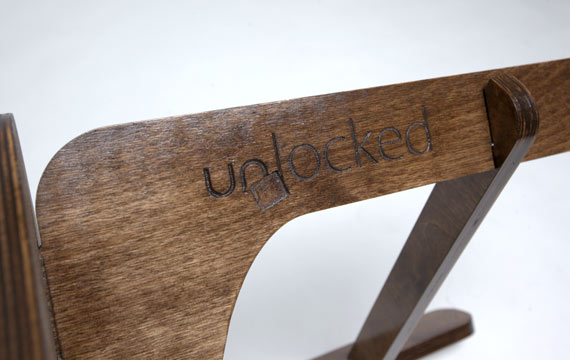Unlocked C2 birch plywood chair engraving detail