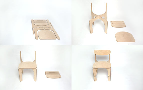 Unlocked C1 chair assembly